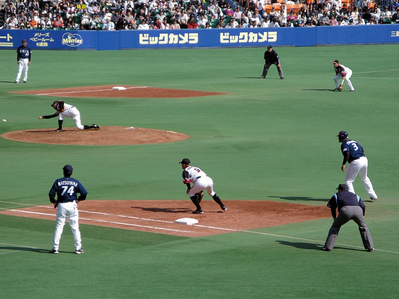 Watanabe throws it hard in the 2nd