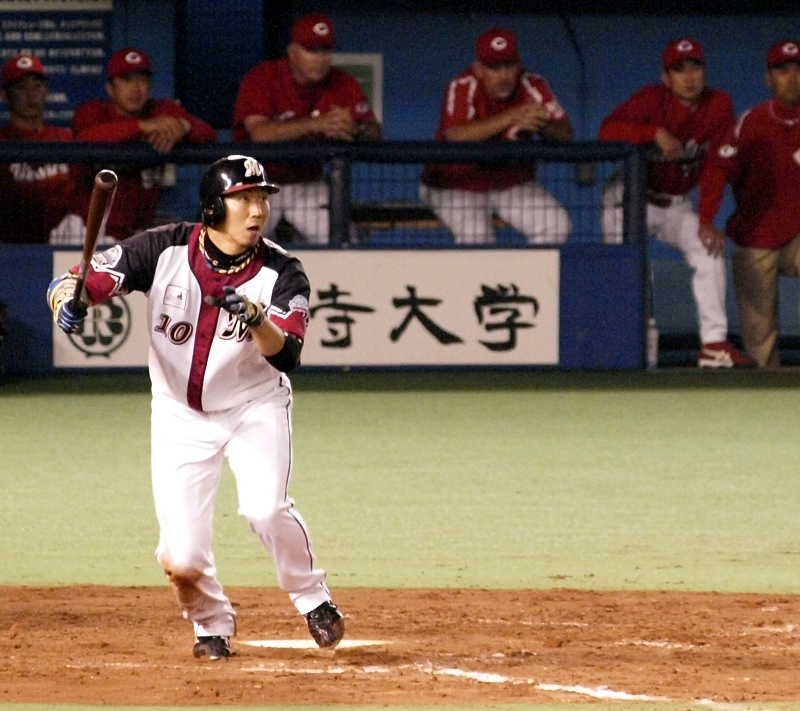 Ohmatsu strokes a double in the second of his 3 AB in the 6th