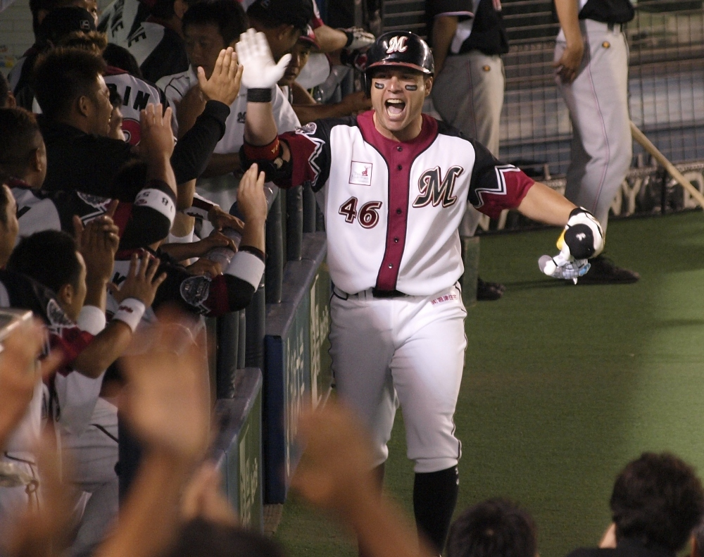 Burnham Jr fires up the team and the fans after his 8th inning blast