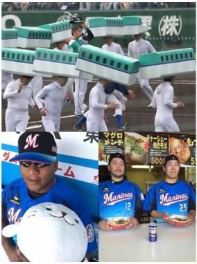 Celebrating the opening of the Hokkaido Shinkansen last Thursday in Hakodate and Marines Fest on Sunday.  photos from Twitter users @azunyan_photo & @chiba_lotte